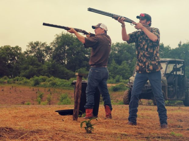 hunters at sporting clays at Mossy Oak Properties Charity Event
