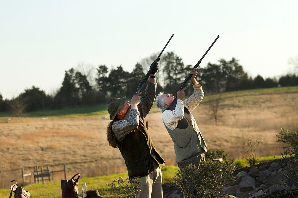 two hunters at sporting clays