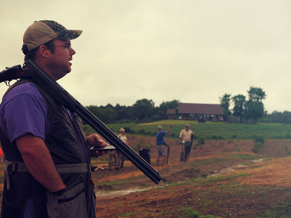 standing hunters at sporting clays at Mossy Oak Properties Charity Event