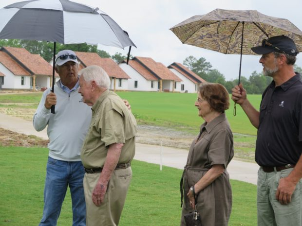 people at golf tournament at Mossy Oak Properties Charity Golf Tournament