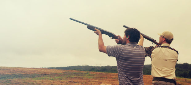 sport clay shooters shooting