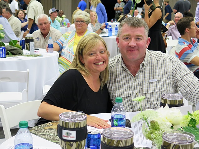 Mossy Oak Properties Charity Golf Tournament dinner guests