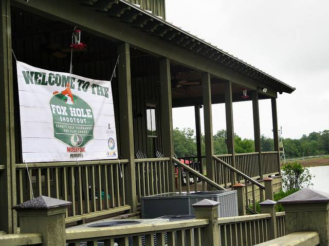 Welcome Sign at Mossy Oak Properties Charity Golf Tournament