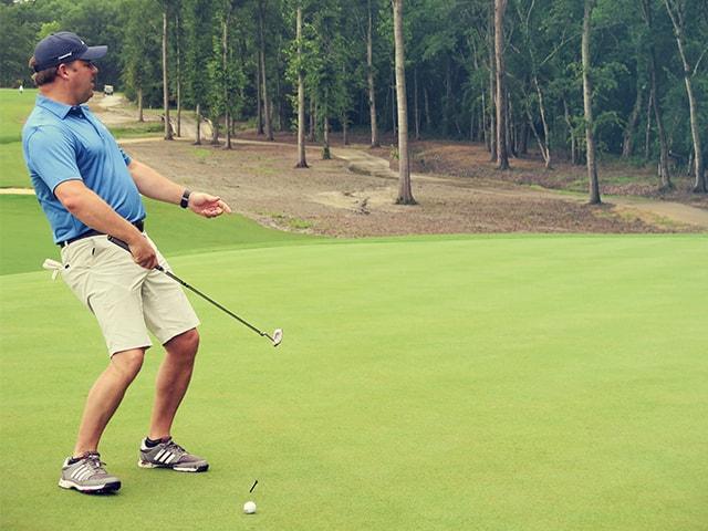 golf tournament golfer at the mossy oak golf club