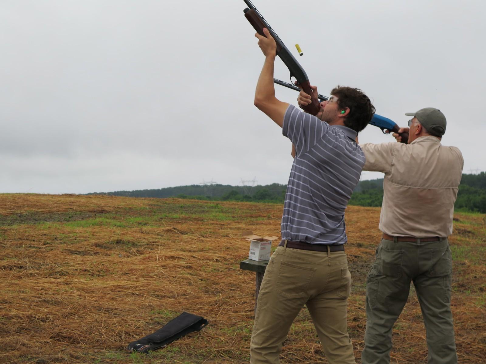 hunters shooting at prairie wildlife farms
