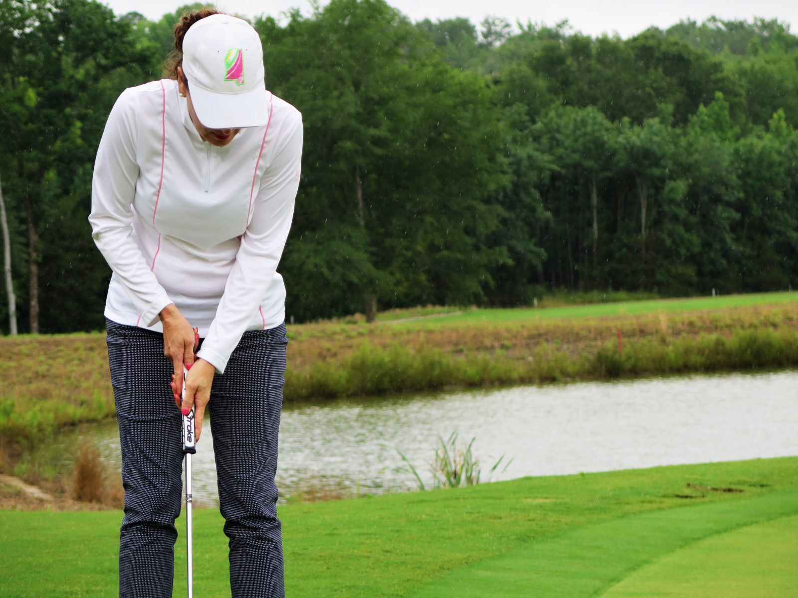 woman golfer in golf tournament at Mossy Oak Properties Charity Golf Tournament